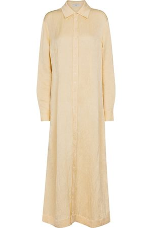 CO Linen-blend maxi shirt dress