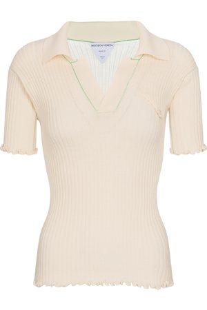Bottega Veneta Ribbed-knit wool polo sweater