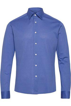 Eton Dark Polo Shirt Skjorte Business Grå
