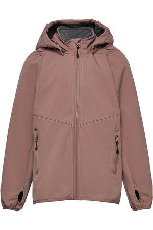 Mikk-Line Softshell Girls Jacket Outerwear Softshells Softshell Jackets Rosa