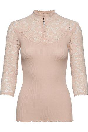 Rosemunde Dame Langermede - Silk T-Shirt Regular 3/4 S W/Lace T-shirts & Tops Long-sleeved