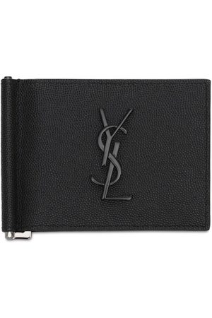 Saint Laurent Monogram Leather Wallet W/ Bill Clip