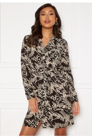 OBJECT Talusa L/S Birdy Dress Black AOP 42