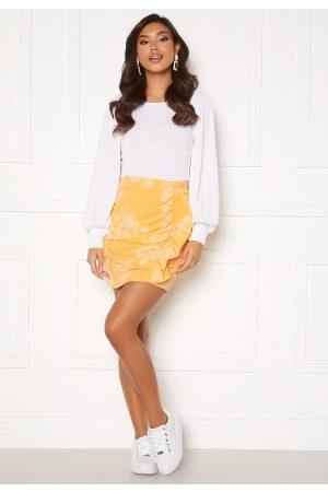 BUBBLEROOM Deb frill skirt Yellow / White 34