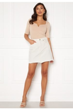 Levi's Hr Decon Iconic Bf Skirt 0010 Pearly White 28