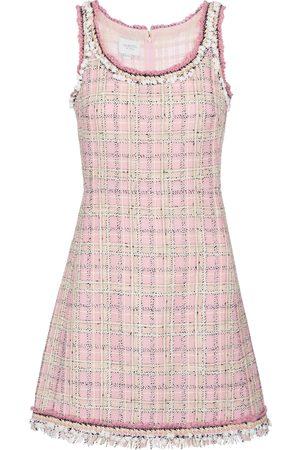 Giambattista Valli Wool and cotton-blend tweed minidress