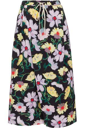 Marni Floral cotton culottes