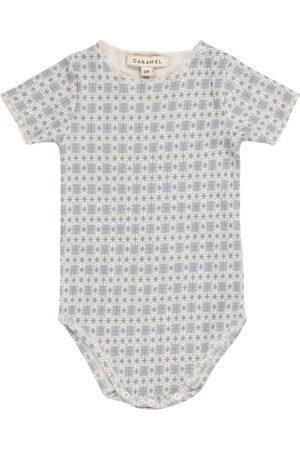 Caramel Baby Viperfish printed cotton-blend bodysuit