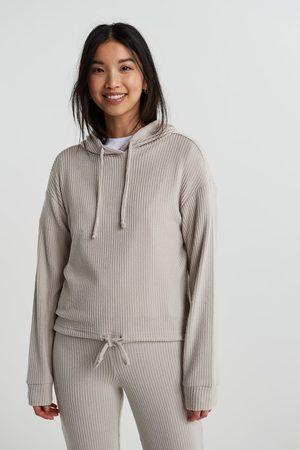 Gina Tricot Dame Hettegensere - Stina rib hoodie