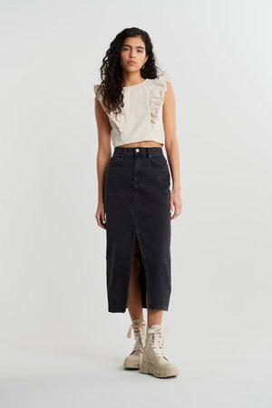 Gina Tricot Dame Maxiskjørt - Original long denim skirt