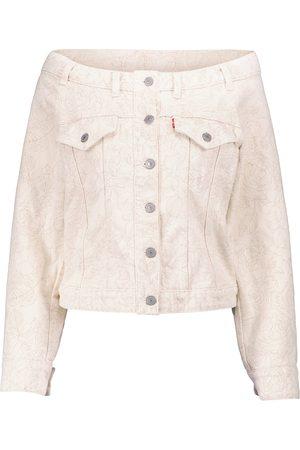 Ganni X Levi's® floral off-shoulder denim jacket