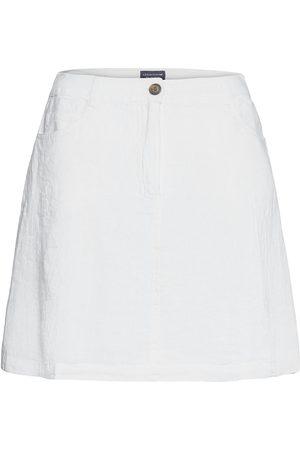 Lexington Stella Linen Skirt Kort Skjørt Hvit
