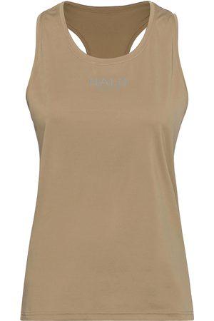 Black Halo Dame Singleter - Womens Racerback Tank T-shirts & Tops Sleeveless Beige