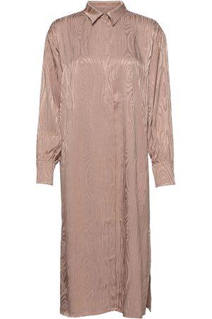Black Halo Dame Hverdagskjoler - Kaarna Long Shirt Dress Tunika Rosa