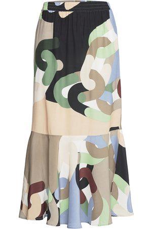 Coster Copenhagen Dame Maxiskjørt - Skirt In Chain Print Langt Skjørt Multi/mønstret