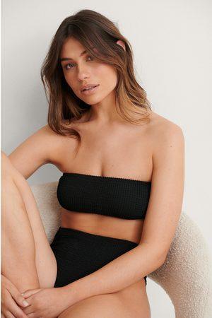 NA-KD Dame Bikinier - Smocked Bandeau Bikini Top