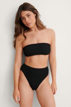 NA-KD Dame Bikinier - Smocked High Waist Bikini Panty
