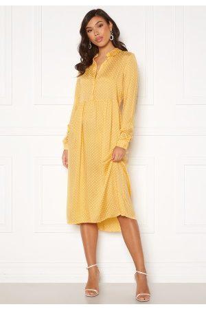 Vero Moda Fie Ls Calf Dress Wvn Cornsilk/ Birch Dot L
