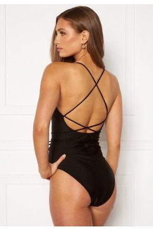 BUBBLEROOM Melia high thigh strap swimsuit Black L