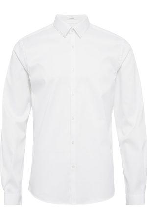 Lindbergh Plain Twill Stretch Shirt L/S Skjorte Uformell Svart