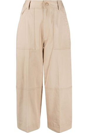 Moncler Dame Bukser - Panelled cropped trousers