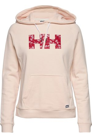 Helly Hansen Dame Hettegensere - W F2f Cotton Hoodie Hettegenser Genser Rosa