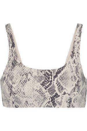 alo Dame Sports-bh - Vapor snake-print sports bra