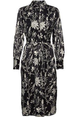 Scotch&Soda Dame Kjoler - Viscose Dress With Waist Detail Dresses Shirt Dresses Svart