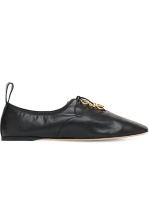Loewe 10mm Soft Derby Leather Lace-up Shoes