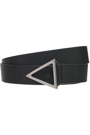 Bottega Veneta 2cm V Buckle Leather Belt