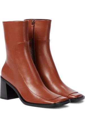 The Row Dame Skoletter - Patch leather ankle boots