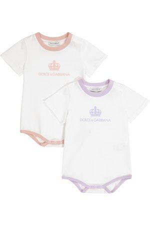 Dolce & Gabbana Sett - Baby set of 2 cotton playsuits