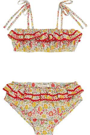 Caramel Mahi floral cotton bikini