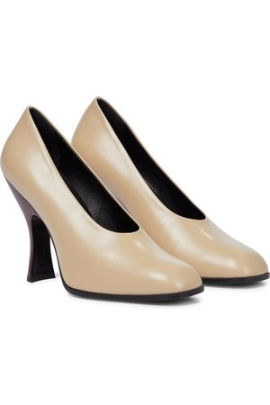 The Row Dame Pumps - Jade leather pumps
