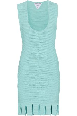 Bottega Veneta Cotton-blend mesh knit minidress