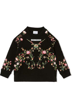 Burberry Jente Sweatshirts - Floral unicorn-print sweatshirt