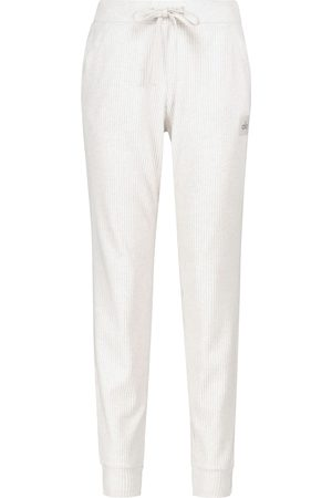 alo Dame Bukser - Muse ribbed-knit sweatpants