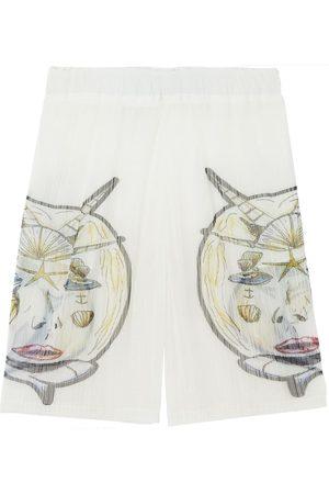 Burberry Herre Bermudashorts - Marine-print plissé shorts