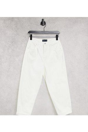 ASOS Petite ASOS DESIGN Petite 'original' mom jean in off white