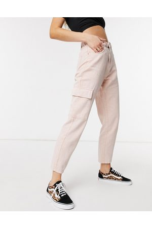 Noisy May Straight leg jeans co-ord in pink