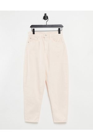 Levi's Levi's high loose tapered leg jeans in ecru-Cream
