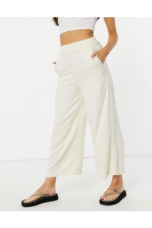 VILA Dame Leggings - Culottes in cream-Neutral