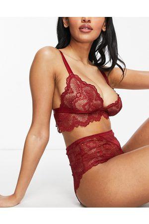 ASOS Fuller Bust Rosie lace longline bra in red