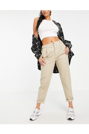 ASOS Hourglass chino trousers in stone