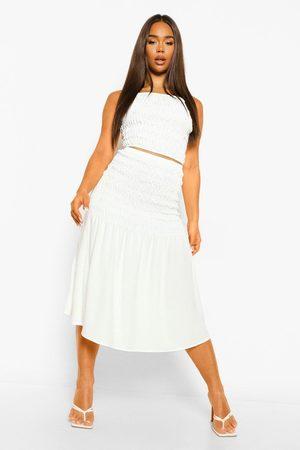 Boohoo Shirred Crop & Midaxi Skirt