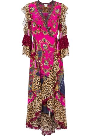 Camilla Embellished printed silk maxi dress