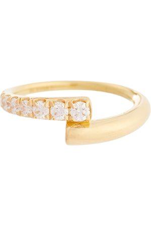 Melissa Kaye Lola 18kt gold ring with diamonds