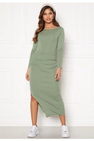 BUBBLEROOM Dame Strikkede kjoler - Madina fine knitted dress Dusty green S