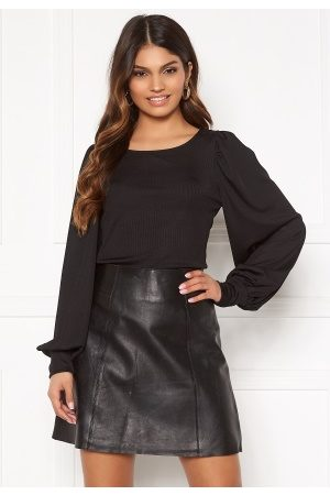 BUBBLEROOM Dame Topper - Gry balloon sleeve top Black L
