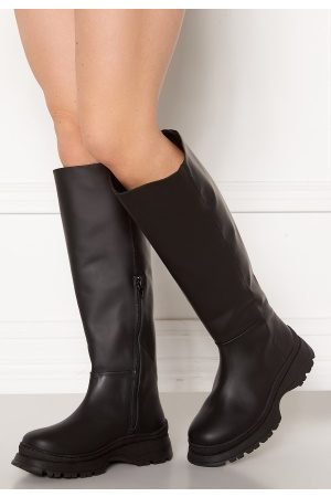 Selected Dame Støvler - Lucy Leather Boot Black 37